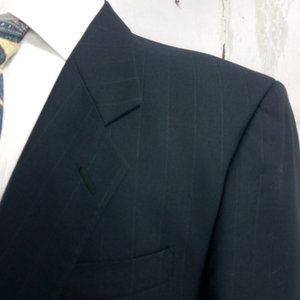 Paulo Solari Suits & Blazers - Paulo Solari Athletic Fit Blue Stripe Suit Blazer